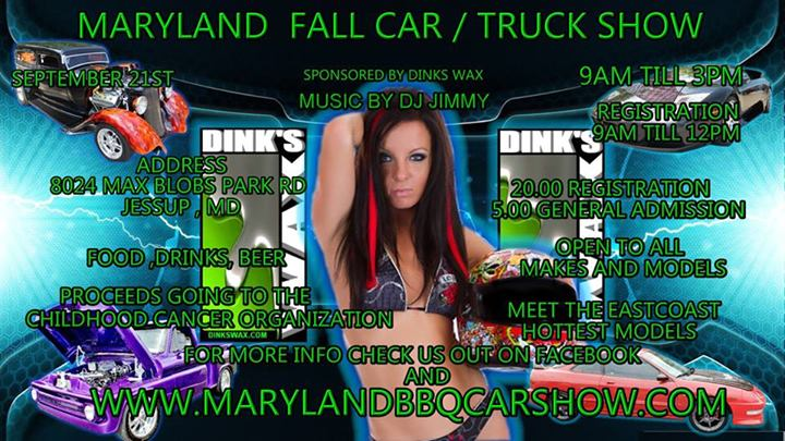 Maryland Fall Car Show Bikini Contest Flyer